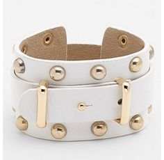 Cara Wide Leather Bracelet