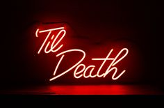 Till Death Custom Neon Sign for Wedding, Office and Home A marriage is a ceremony Red And Black Wallpaper, Neon Wallpaper, Aesthetic Iphone Wallpaper, Aesthetic Wallpapers, Red Aesthetic Grunge, Death Aesthetic, Neon Aesthetic, Bedroom Wall Collage, Photo Wall Collage
