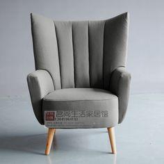 复古北欧新古典单人沙发椅外贸出口欧式餐椅咖啡雅座餐厅椅可定做-淘宝网