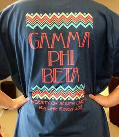 Big Little Reveal 2013 Shirt!  U of SC Gamma Phi Beta