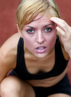 Workout Face: Ruby-red flush means your working hard!
