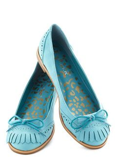 The cuteness is killing me!  I LOVE these shoes! Kiltie Me Softly Flat, #ModCloth