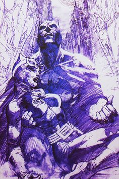 Jim Lee sketch of Batman and Catwoman in Hush. Hush was the besy comic. Closely followed by The Long Halloween.