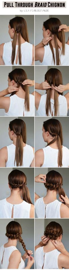 Excellent And Super Easy Updos For Long Hair Inspirations 153