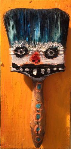 "New Mexico Flea Market Artist Kelly Moore ""Paint Brush Gremlin"""