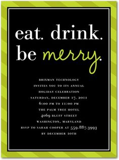 Simple and elegant idea for a corporate holiday party. I really like this.