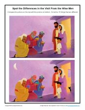 Children's Wise Men Spot the Differences Sunday School Activity Sunday School Kids, Sunday School Activities, Sunday School Lessons, Sunday School Crafts, School Children, Preschool Bible, Bible Activities, Teaching Babies, Teaching Ideas