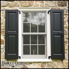 Faux NY Style Shutter Hinge Pair
