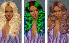 The Glam Goddess hairstyle - Newsea's  hair retextured by Beaverhausen for Sims 3 - Sims Hairs - http://simshairs.com/the-glam-goddess-hairstyle-newseas-hair-retextured-by-beaverhausen/