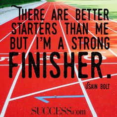 Great words by Usain Bolt