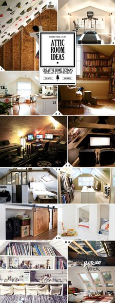 I think the most creative idea has got to be the climbing gym. But a nice attic library and reading nook would be a good place to spend the day. Here are 9 ideas on how to use an attic space. 1. A Space to Workout The slanted walls of the attic make for a […]