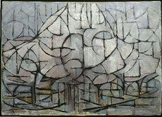 Piet Mondrian, Bloeiende bomen, Flowering trees, Domburg, 1912. Gemeentemuseum Den Haag