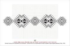 Romanian cross stitch pattern Folk Embroidery, Cross Stitch Embroidery, Embroidery Patterns, Cross Stitch Patterns, Knitting Patterns, Blackwork, Arrow Tattoos, Beading Projects, Loom Beading