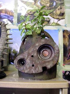 Castle In The Sky robot head planter
