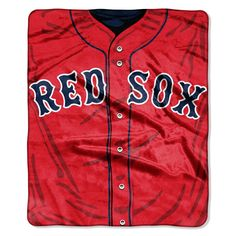 Boston Red Sox 50x60 Royal Plush Raschel Throw Blanket - Jersey Design