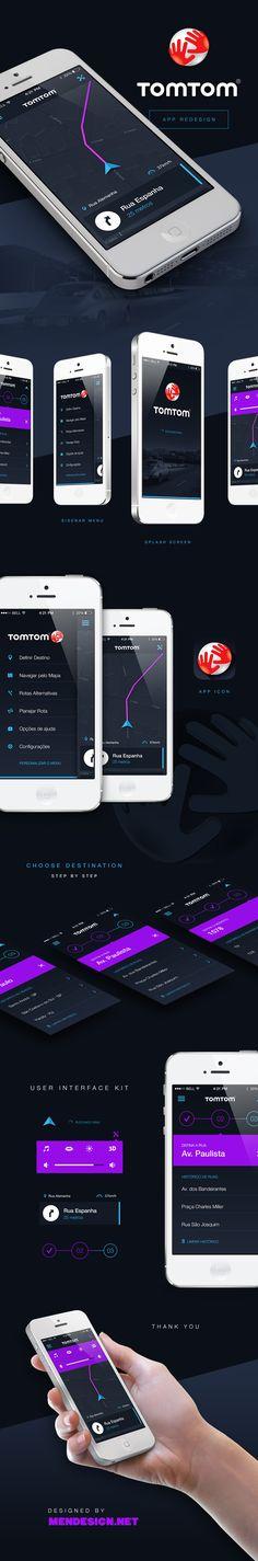 Unique App Design, Tomtom @huang1748 #App #Design (http://www.pinterest.com/aldenchong/)