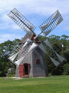 Eastham windmill. During open house, you can see the grindstone.