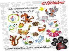 Stickdateien Kater Jeremy Set 10x10 (43 Dateien) von kindundkegel-shop auf DaWanda.com