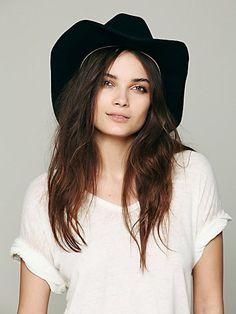 Free People Rancher Wool Cowboy Hat