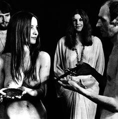 Janet Farrar receiving her Ritual Tools