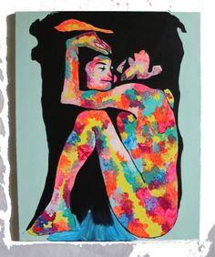 John Lennon and Yoko Pop Art Painting 24x30 by FrancescaBessettArt, $75.00
