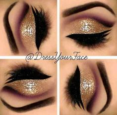 A gorgeous eyemakeup by @dressyourface. This is pure precision and talent! So beautiful...