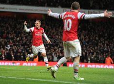 Wilshere crossed, and Podolski scored to make it #Arsenal 3-2 Newcastle.