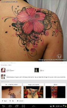 Girly swirly tattoo- I like this but not the flower.