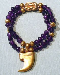 Pair of Claw Anklets of Sithathoryunet - Middle Kingdom, 12th Dynasty, reign of Senwosret II - Amenemhat III, Egypt, gold and amethyst