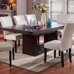 Essentials in Dining Room Design - All About Decoration Wooden Dining Table Designs, Dinning Table Design, Simple Dining Table, Dining Table Lighting, Rectangle Dining Table, Dining Room Table Decor, Wooden Dining Tables, Dining Room Furniture, Modern Dining Table Sets