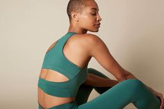 Yoga and active wear from Moonchild. Made from recycled nylon. So in love with this material and color! Moonchild, Be Perfect, Active Wear, Yoga, Stars, How To Wear, Color, Inspiration, Beautiful