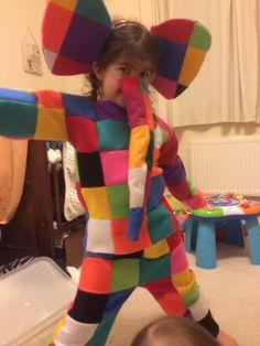 Lily's Elmer Costume #elmer #patchwork #elephant
