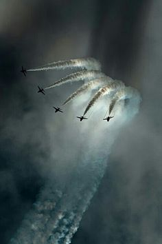 Jet Planes flying in formation.