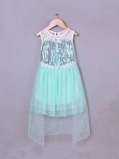 Frozen Elsa Dress with Lace Top