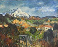 """Horace RICHEBÉ (1871-1964) """"La Ste Victoire"""".  Huile sur toile signée en bas à gauche.  54 x 65 cm. - Sophie Himbaut - 02/06/2017"""