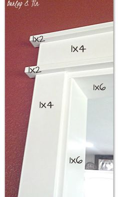 Plinth blocks, door trims, baseboards and even corbels add height, interest and a whole lot extra to your doors and windows and the overall appearance of your rooms. These little features can not only… Home Renovation, Home Remodeling, Bathroom Remodeling, Moldings And Trim, Crown Moldings, Types Of Crown Molding, Mdf Trim, Door Trims, Window Trims