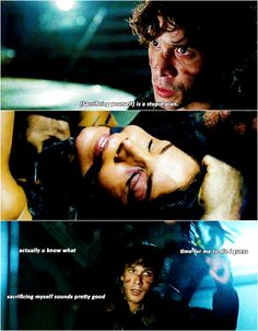 Bellamy Blake and Octavia Blake || The 100 season 3 episode 12 - Demons || Blake siblings || Bob Morley and Marie Avgeropoulos