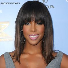 Material: Synthetic Hair Item Type: Wig Celebrity Hairstyles: Kelly Rowland Length: Long Wigs Type: Natural Wigs Made Method: machine made Cap Size: Medium Net Weight: 0.2kg Can Be Permed: No Style: S