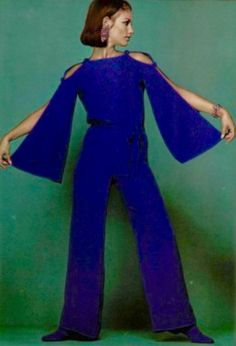1966 blue vintage jumpsuit Christian Dior  with <3 from JDzigner www.jdzigner.com