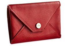 Chic leather envelope.