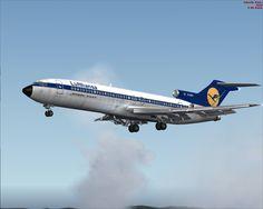 Lufthansa Boeing 727 on runway approach