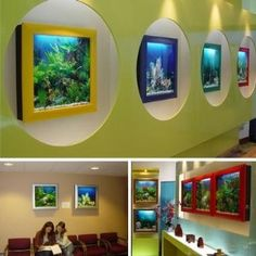 Framed Wall Aquarium Fish Tank Aquariums Fish Tanks Pinterest