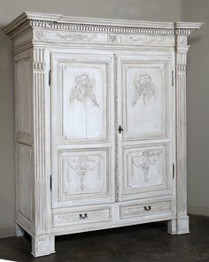 Antique French Louis XVI Period Armoire | Antique Country French Armoires |  Inessa Stewartu0027s Antiques #