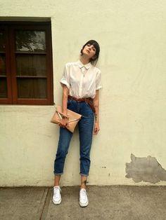 hipster londinense camisa blanca