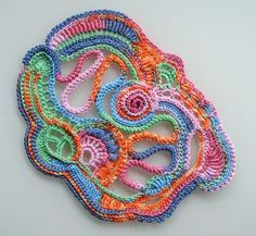free crochet flower and freeform patterns - Google Search