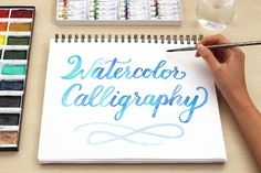 Watercolor Calligraphy for Beginners - Art - Watercolor - Watercolor Lettering, Watercolor Brushes, Watercolour Tutorials, Watercolor Techniques, Brush Lettering, Watercolor Cards, Watercolour Painting, Painting & Drawing, Drawing Tips