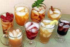 Homemade Flavored Iced Tea