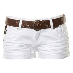 Stolen Belted Hot Pants found on Polyvore