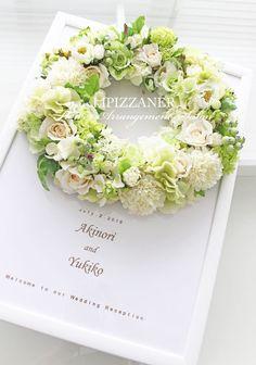 新婦様の夢を叶えます♪ウェルカムボードオーダー | LIPIZZANER Flower Arrangement Salon Diy Wreath, Wreaths, Wedding Desserts, Summer Wreath, Pretty Little, Flower Power, Flower Arrangements, Floral Wreath, Easter