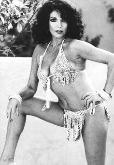 joan collins in a tiny bikini